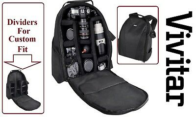 Pro Vivitar Backpack Case Camera Bag For Olympus TG-5 E-PL9 E-M10 lll E-PL8