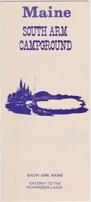 c1970 South Arm Campground Andover Maine Brochure