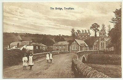 Cornwall postcard Truro Tresillian The Bridge