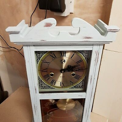 Shabby Chic Duck Egg Blue Mantle Clock 31 Day Mechancal Clock With Strike