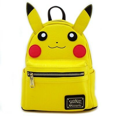 # LOUNGEFLY POKEMON GO School Bag Backpack PIKACHU COSPLAY Faux Leather YELLOW