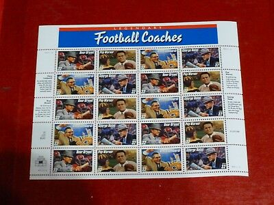 United States Scott 3143- 3146-the 1997 Football Coaches Sheet of 20 Mint NH