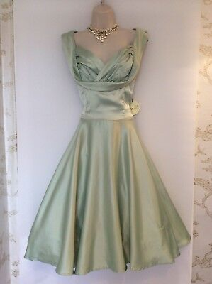 Rockabilly Dress,swing,40's,50's,60's,vintage Style,lindy Bop,green,size 14,nwts