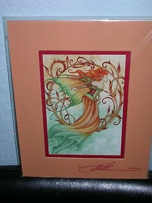Amy Brown - Autumn Reverie - Matted Mini Print - SIGNED