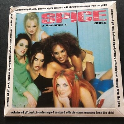 SPICE GIRLS - CD Gift Pack - 2 Become 1 - with CD, Christmas Postcard with messa