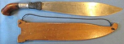 WWII period Philippine barong sword with wood sheath; NOT a tourist piece!