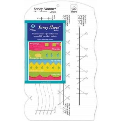 "June Tailor Fancy Fleece Slotted Ruler-9-1/2""x16"""