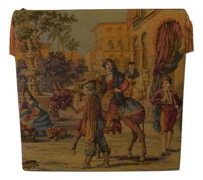 Antique Victorian Needlepoint Petit Point Aubusson Tapestry Art