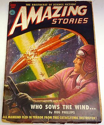 Amazing Stories – US Pulp – Vol.25 No.6 - June 1951 - Rog Phillips, P.F.Costello