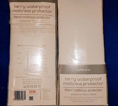 Terry waterproof mattress protector - Cot Bed Size. Brand New in Packet