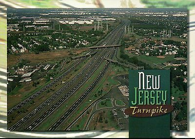 Aerial View of the New Jersey Turnpike, Road Car & Truck Transportation Postcard