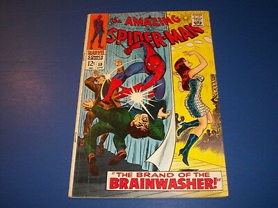 Amazing Spider-man #59 Silver Age 1st Mary Jane Cover VG/VG+ Solid