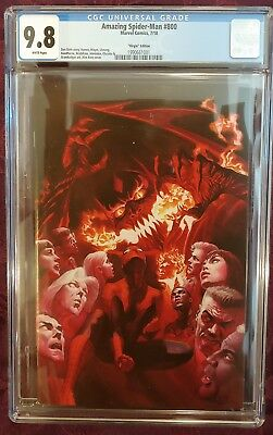 Amazing Spider-Man #800 1:500 Alex Ross virgin variant 9.8 NM/M🔥  NO RESERVE!!