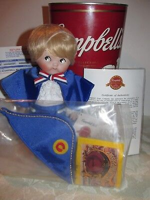 Campbell's Soup Kids 125 Years Collectible Porcelain Doll George Washington 1994