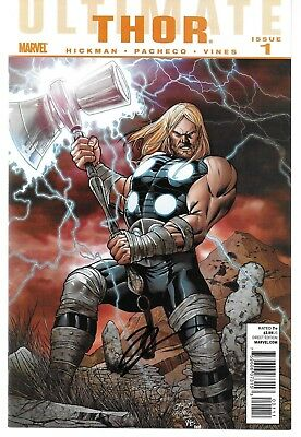 Ultimate Thor 1 Signed by Jonathan Hickman Autographed