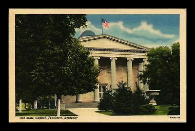 Dr Jim Stamps Us Frankfort Kentucky Old State Capitol Linen Postcard