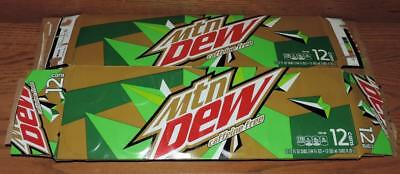 Nm 2018 Usa Mtn Dew Caffeine Free Empty 12-Pack Can Cartoncarrier