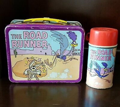 """1970 """"The Road Runner"""" Metal Lunchbox & Thermos - Complete Kit"""