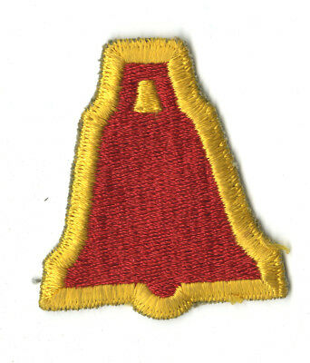 Wwii Original Xix Corps 1St Design White Back Patch Europe France