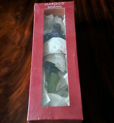 """Waterford Crystal Marquis VENETIAN Spire CARNIVALE Fresco 11"""" Ornament NOS 2003"""
