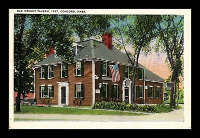 Dr Jim Stamps Us Old Wright Tavern Concord Massachusetts Postcard