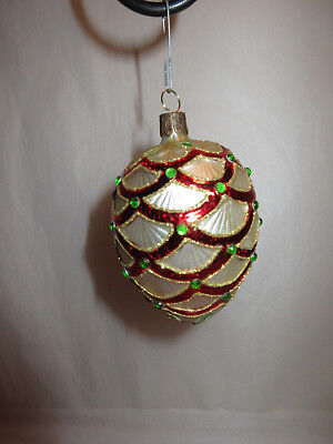 Waterford Jeweled Glass Egg Christmas Tree Ornament Mint In Box