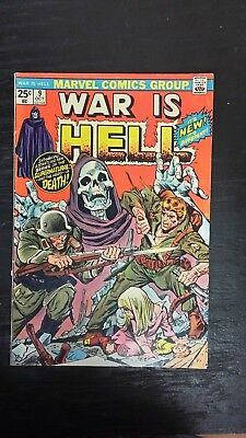 1974 Marvel Comics War Is Hell #9 First Full App Death F/vf Flat Rate S/h