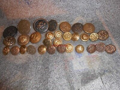 31 Vintage Military Uniform Buttons
