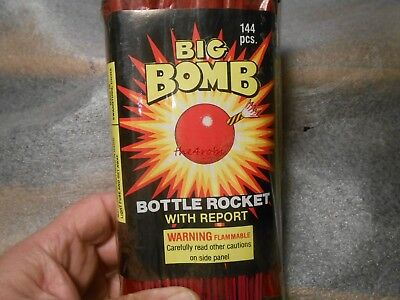 Vintage Big Bomb Bottle Rockets Gross Label