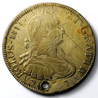 1807-TH Mexico 8 Reales - KM#109 - Spanish Colony Large Silver Coin