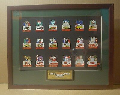 Coca Cola Olympic Delivery Trucks Framed Pin Set ~ 1924-1998 ~ Limited #270/1000