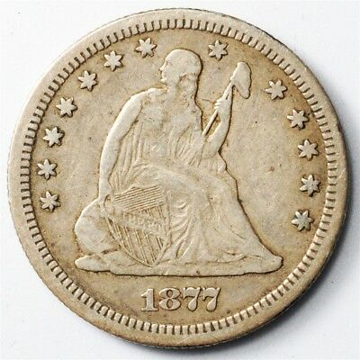 1877-S Seated Liberty Quarter - 25c Silver - Toned