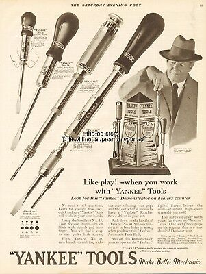 1926 Yankee Tools Spiral Ratchet Screwdriver North Bros Mfg Philadelphia PA Ad