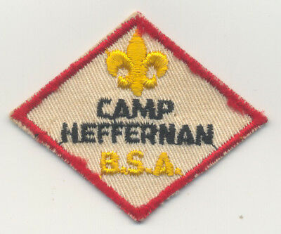 Vintage Boy Scout Corn Belt Council Camp Heffernan diamond twill mint