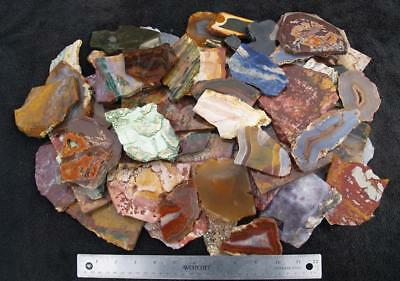 10 lbs ASSORTED ROCK SLABS - great assortment!!!
