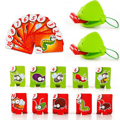 Novelty Chameleon Lizard Toys Masks Wagging Tongue Lick Children Card Board Game