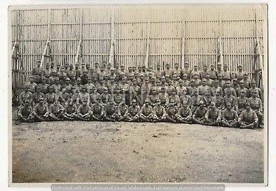 Original Wwii Japanese Photo: Army Soldiers Unit!!