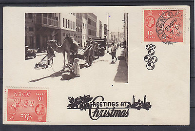 Ak Pk Greetings at Christmas Aden Camels Camels Drilled 1956 Yemen