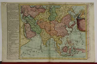 Asian Continent 1776 Philippe De Pretot Antique Original Copper Engraved Map