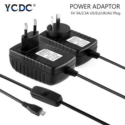 Power Supply Adapter Wall Charger for Raspberry Pi 2 3 B B+ 0 3A/2.5A DC5V US/EU