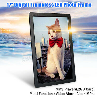 17'' 1080P HD LED Digital Photo Frames Picture Video Movie Player+Remote