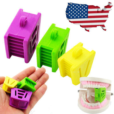 US 3PCS Silicone Latex Mouth Prop Bite Blocks open upper low arch Dental Suppies