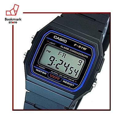 New Casio Standard Digital F-91W-1JF Casual Watch Water Resist 100% Auth Japan