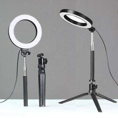 """6.3"""" LED Ring Lights W/ Stand Dimmable LED Lighting Kits For Makeup Youtube Live"""