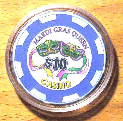 $10. MARDI GRAS QUEEN CASINO CHIP - Tarpon Springs, Florida - 2005