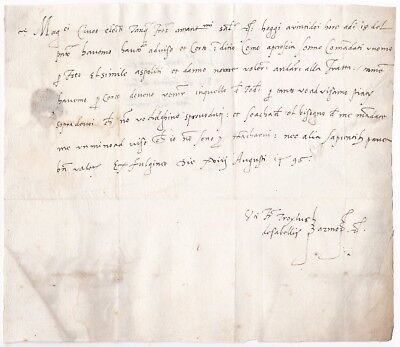 # 1495 Very Early Italian Pre-Stamp Letter Italy - Italie - Italia 500 Years Old