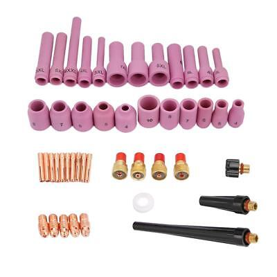 46pcs WP-9/20/25 Series TIG Nozzles Welding Torch Consumables Accessories Kit