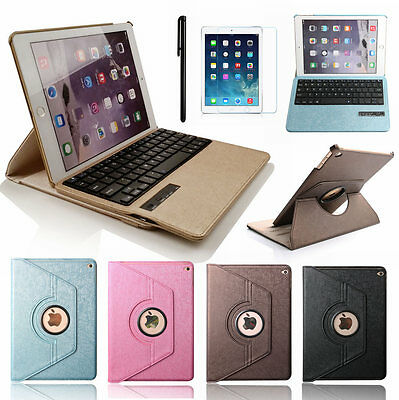 360° Swivel Wireless Keyboard Case Rotating Leather Folio Cover for iPad 4/3/2