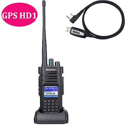 Ailunce HD1 (GPS) UHF/ VHF Dual Band DMR Tier2  Digital Radio IP67&USB AU local