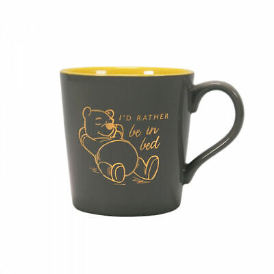 Winnie The Pooh I'd Rather Be In Bed Mug Ceramic Coffee Tea Cup Piglet Tigger